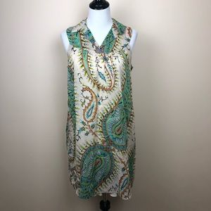 Johnny Was Collection paisley print shift dress